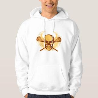 Lacrosse Skull - Red Hoodie