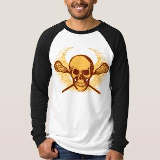 Lacrosse Skull - Red T-Shirt