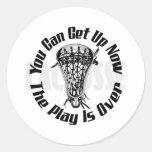 Lacrosse Smack PlaysOver Bak Sticker Round Sticker
