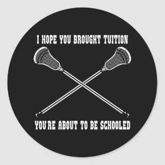 Lacrosse Smack Tuition Sticker