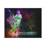 Lacrosse Splatter spread Canvas Canvas Print
