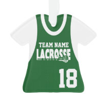 Lacrosse Sports Jersey Green with Number Ornament