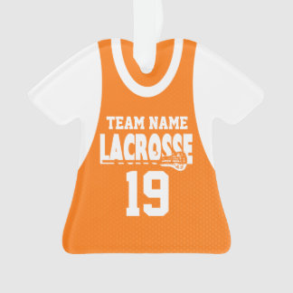 Lacrosse Sports Jersey Orange Ornament