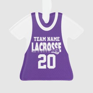 Lacrosse Sports Jersey Purple with Photo Ornament