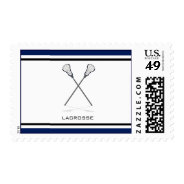 Lacrosse Sports Postage at Zazzle