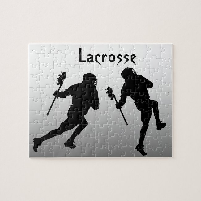 Lacrosse Sports Silver and Black Puzzle