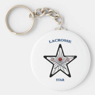 Lacrosse Star Keychains