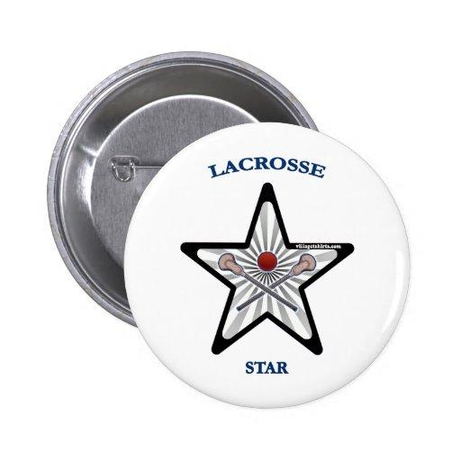 Lacrosse Star Pin
