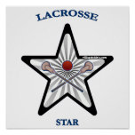 Lacrosse Star Poster