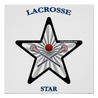Lacrosse Star Poster