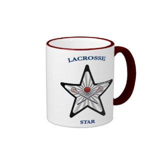 Lacrosse Star Ringer Mug