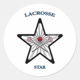 Lacrosse Star Round Sticker