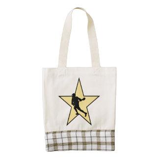 Lacrosse Star Zazzle HEART Tote Bag