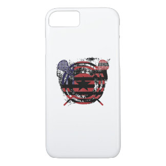Lacrosse Stick American Flag Gifts iPhone 8/7 Case