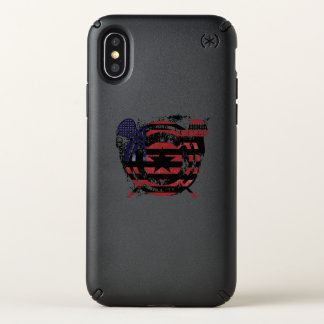 Lacrosse Stick American Flag Gifts Speck iPhone X Case