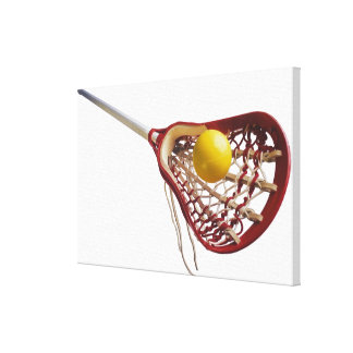 Lacrosse stick and ball canvas print