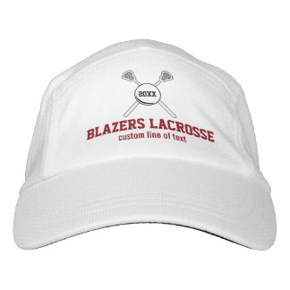 Lacrosse Stick and Ball Custom Player Team Name Headsweats Hat
