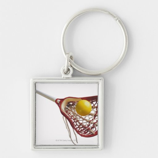 Lacrosse stick and ball keychains