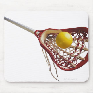 Lacrosse stick and ball mouse pad