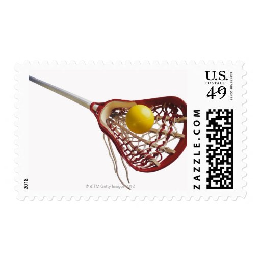 Lacrosse stick and ball stamp