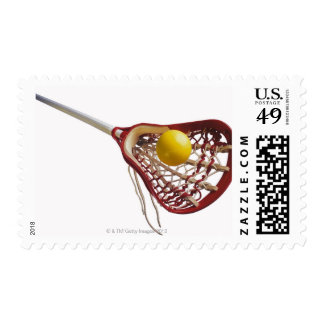 Lacrosse stick and ball postage stamps