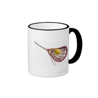 Lacrosse stick and ball ringer mug