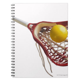 Lacrosse stick and ball spiral notebook