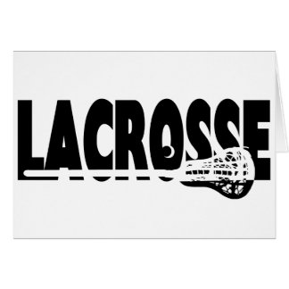 Lacrosse Stick Black and White Card