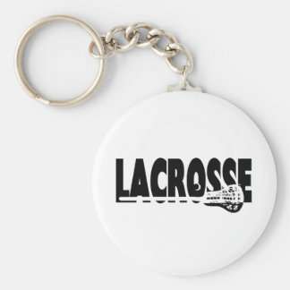 Lacrosse Stick Black and White Keychain