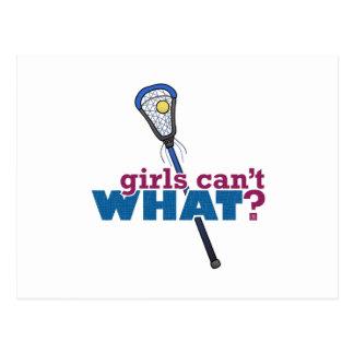 Lacrosse Stick Blue Postcard
