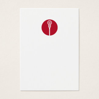 Lacrosse Stick Circle Icon Business Card