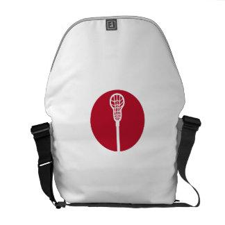 Lacrosse Stick Circle Icon Messenger Bag
