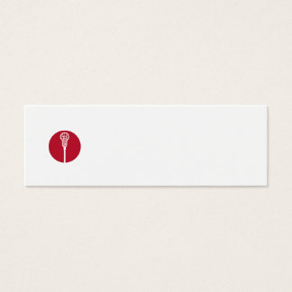 Lacrosse Stick Circle Icon Mini Business Card