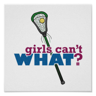 Lacrosse Stick Green Poster