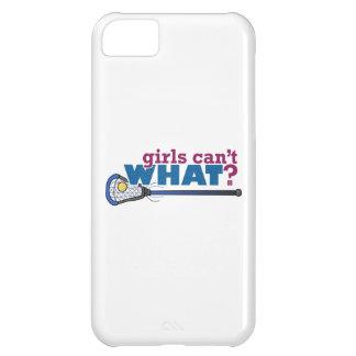 Lacrosse Stick in Blue iPhone 5C Cases