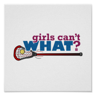 Lacrosse Stick in Red Poster