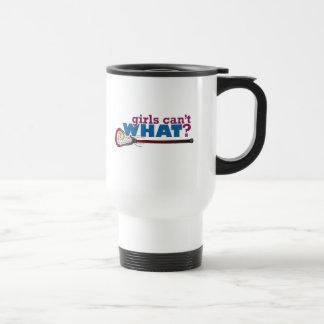 Lacrosse Stick in Red Travel Mug