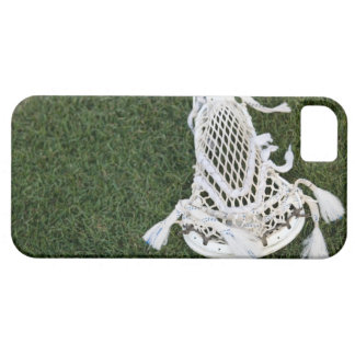 Lacrosse stick on grass iPhone SE/5/5s case