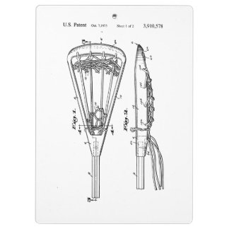 Lacrosse Stick Patent 3910578 Clipboard