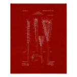 Lacrosse-stick Patent - Burgundy Red Print