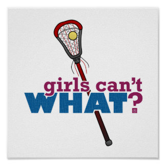 Lacrosse Stick Red Poster