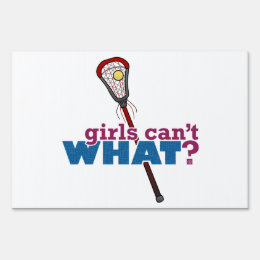 Lacrosse Stick Red Sign