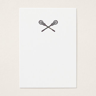 Lacrosse Stick Woodcut Business Card