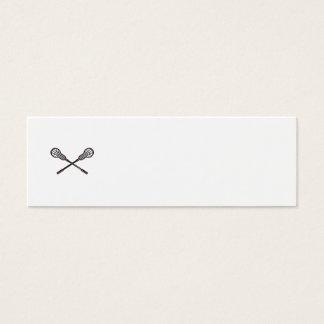 Lacrosse Stick Woodcut Mini Business Card