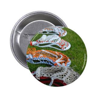 Lacrosse sticks pinback buttons