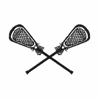 Lacrosse Sticks Crossed Embroidered Shirt Polo