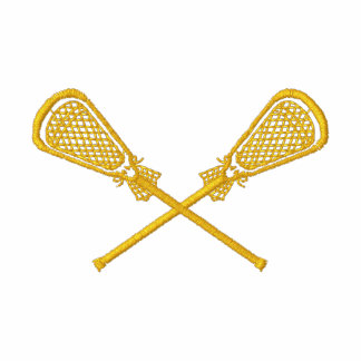 Lacrosse Sticks Crossed Embroidered Shirt Embroidered Polo Shirts