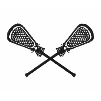 Lacrosse Sticks Crossed Embroidered Shirt Sleeve Embroidered Polo Shirt
