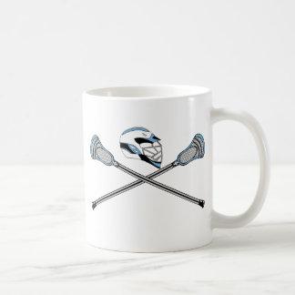 Lacrosse Sticks Crossed Helmet CBlue Coffee Mug