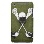 Lacrosse sticks, gloves, balls and sports helmet barely there iPod case